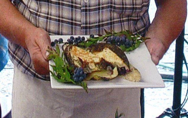 Grill cheese aux bleuets sauvages du Président