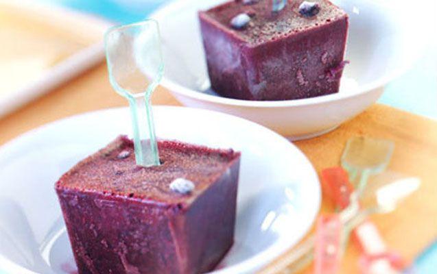 Crème glacée aux bleuets sauvages sur bâtonnet