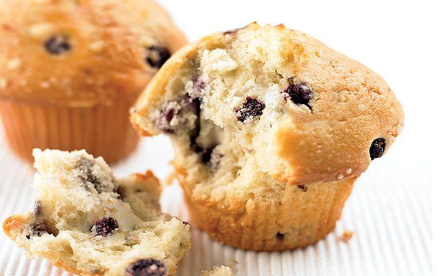 Muffins aux bleuets sauvages, à l'orange et amandes